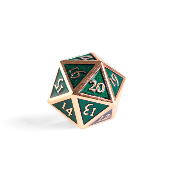 Emerald Copper Spindown Die