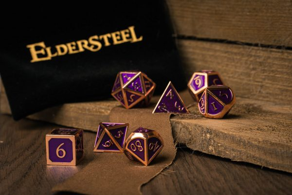 DnD Dice set Amethyst Purple
