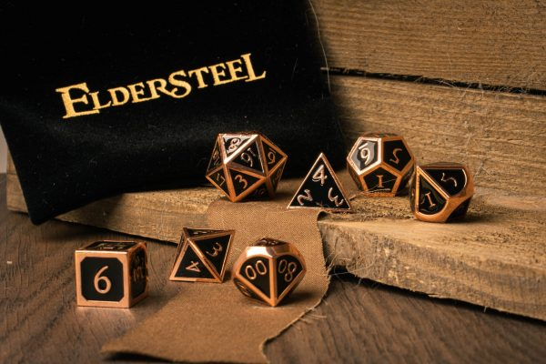 DnD Dice set Jet Copper