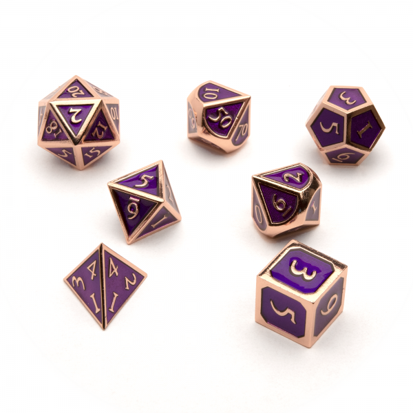 Metal Dice Set - Amethyst Copper